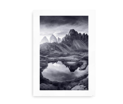 Mountain Lake Reflections - poster