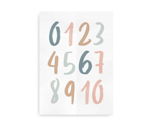 Numbers Ink- talplakat pastel