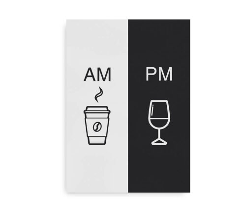 AM_PM Coffee and Wine - typografisk plakat