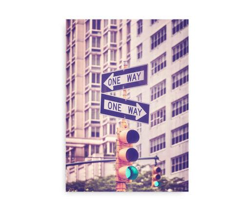 NYC Traffic Lights - Manhattan fotokunstplakat new york