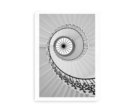 Spiral Staircase No. 01 - fotokunstplakat arkitektur