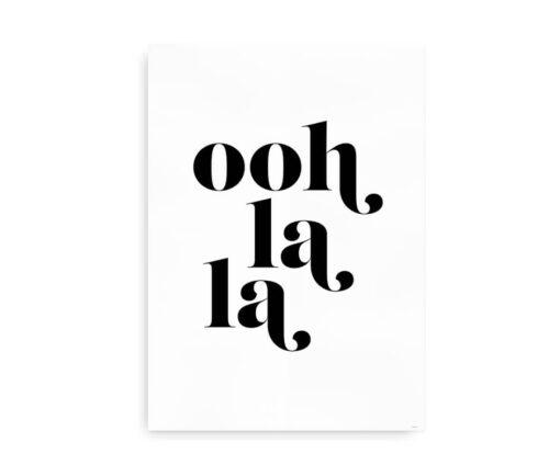 ooh la la - typografisk citatplakat