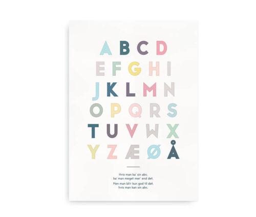 ABC plakat - plakat med alfabetet