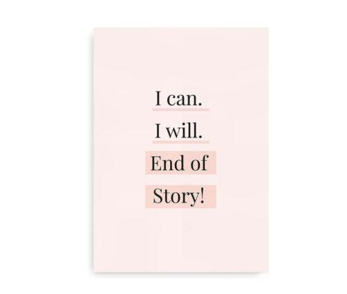 I Can I Will - citatplakat