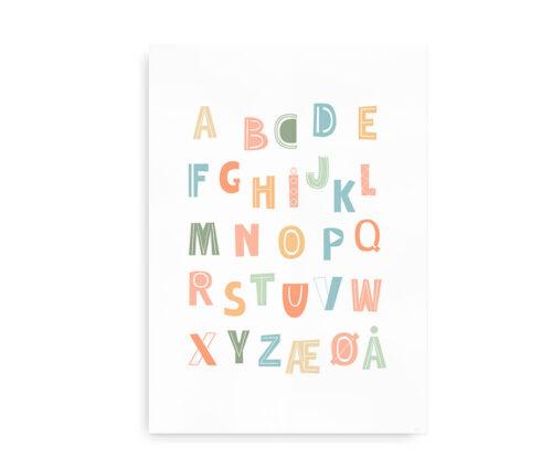 Playful ABC - alfabetplakat i flotte farver
