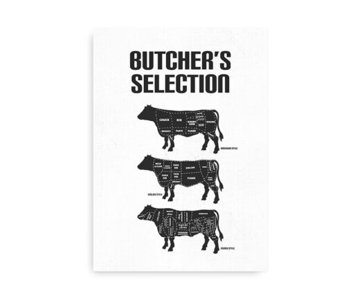 Butcher's Selection - plakat med beef cuts